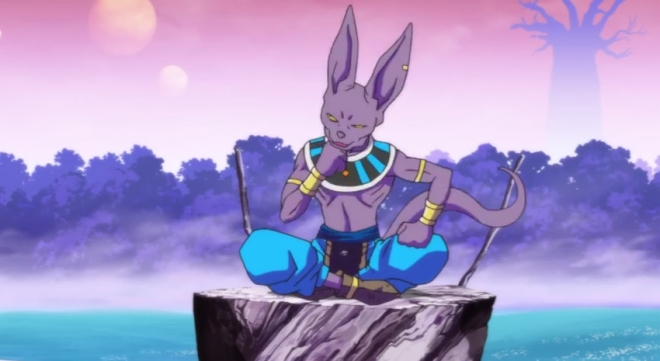 Somehow it makes sense that the God of Destruction would be a cat.