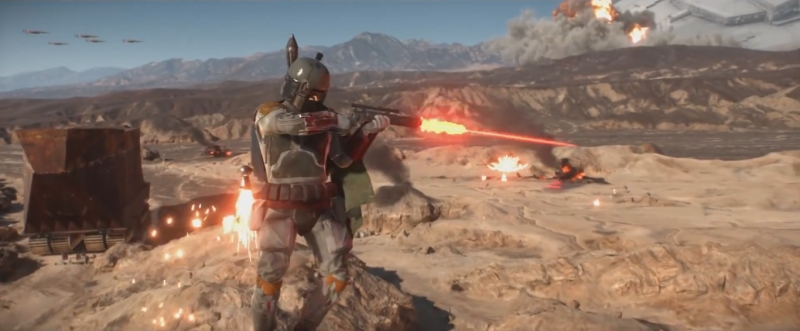 Look guys! It's Boba Fett! One of the most loved characters in the franchise. This game can't possibly be bad because *Boba Fett is in the trailer!*
