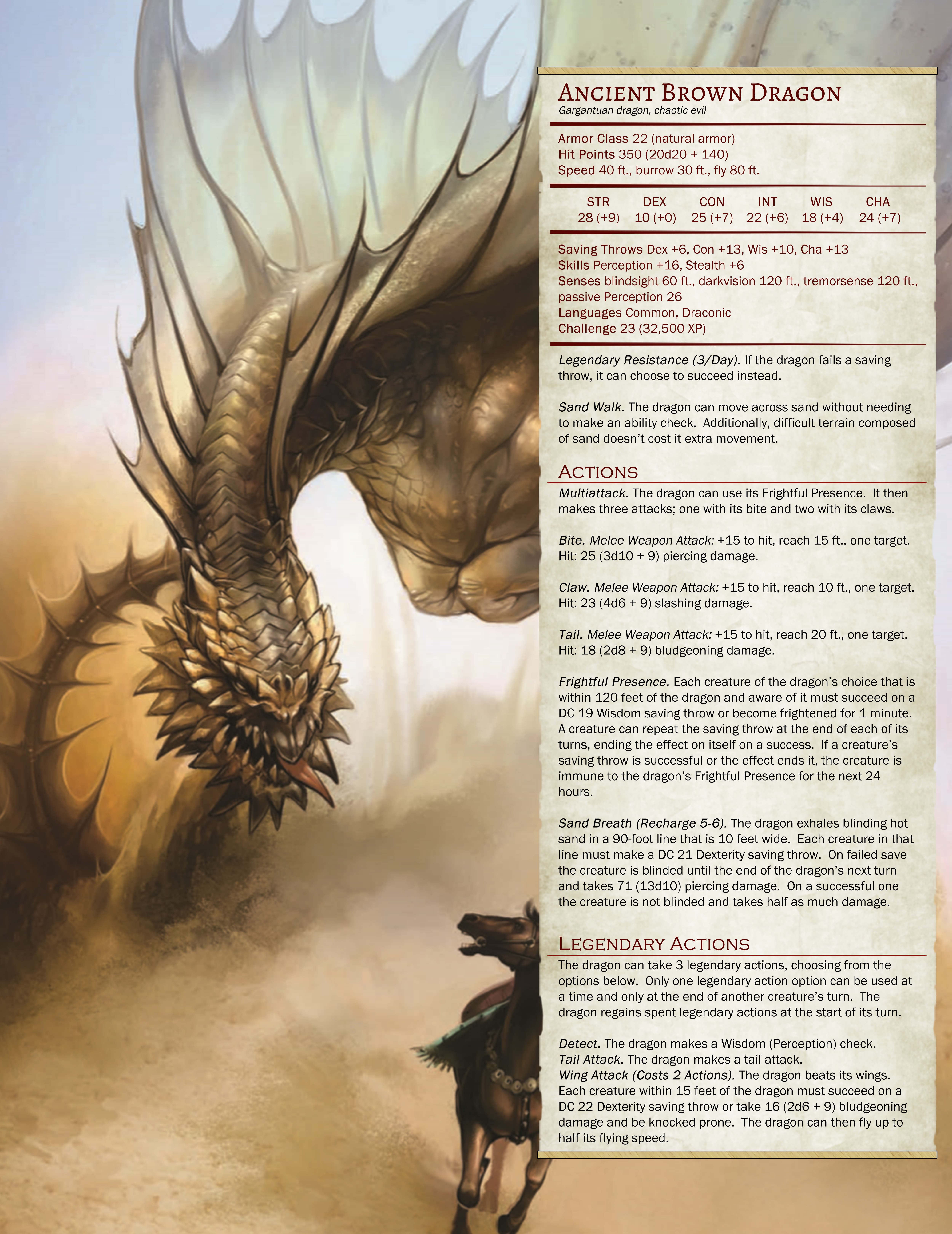Dnd White Dragon: Brown Dragon (5E) : DnD